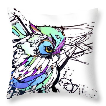 Throw Pillow featuring the painting Scouting by Nicole Gaitan