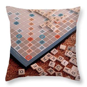 Scrabble Board Throw Pillow