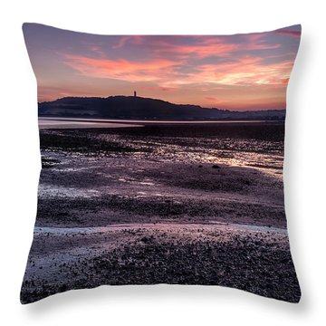 Scrabo Above Strangford Lough Throw Pillow