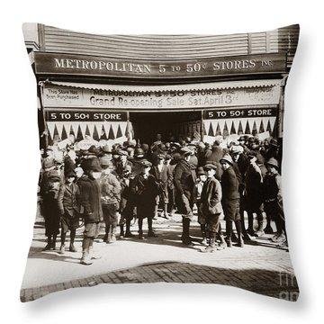 Scranton Pa Metropolitan 5 To 50 Cent Store Early 1900s Throw Pillow