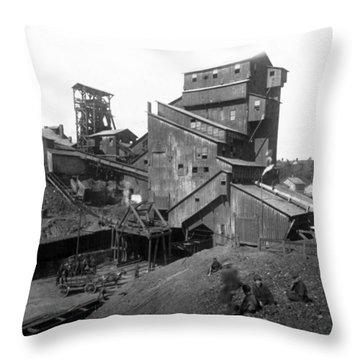 Scranton Pennsylvania Coal Mining - C 1905 Throw Pillow