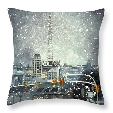 Scranton Times - Auld Lang Syne Throw Pillow