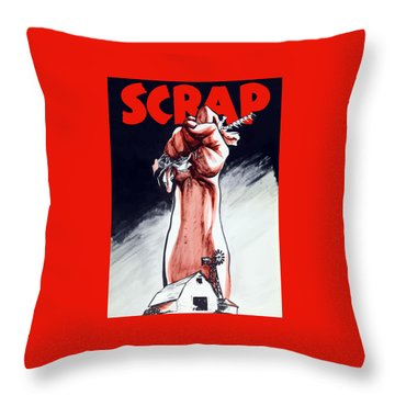 Scrap - Ww2 Propaganda Throw Pillow