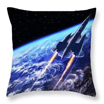 Scraping Outer Spheres Throw Pillow by Dave Luebbert