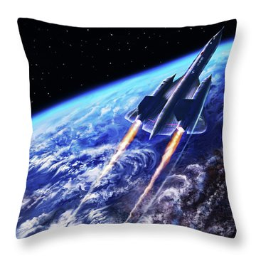 Scraping Outer Spheres Throw Pillow