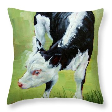 Scratching Calf Throw Pillow