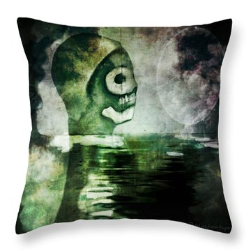 Throw Pillow featuring the digital art Scream Bloody Murder by Delight Worthyn