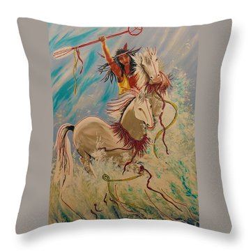 Scream Of Peace Throw Pillow by V Boge