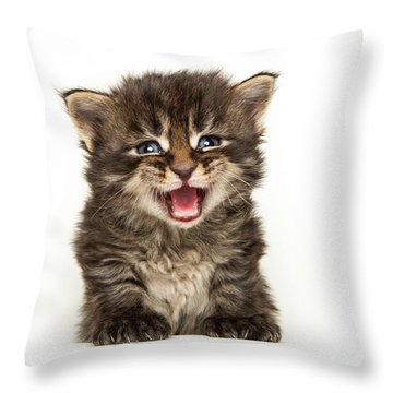 Screamer Throw Pillow