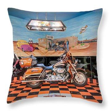 Screamin Eagle Harley Throw Pillow