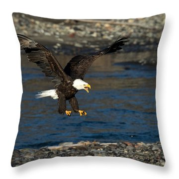 Screaming Eagle II Throw Pillow