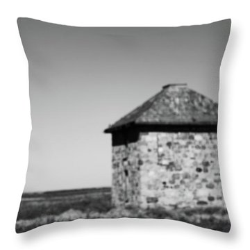 Screaming House Of Indian Head Throw Pillow