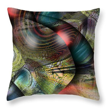 Screaming Spirals Throw Pillow