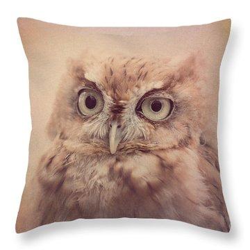 Throw Pillow featuring the photograph Screech Owl 4 by Chris Scroggins