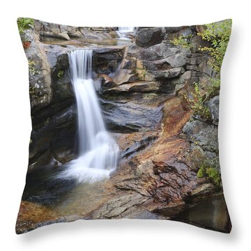 Screw Auger Falls - Maine  Throw Pillow