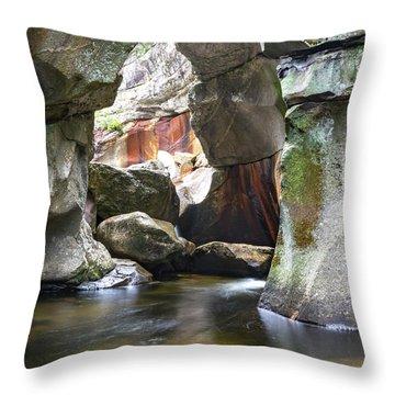 Screw Auger Falls Cavern Throw Pillow
