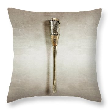 Screwdriver With Tape Handle Throw Pillow by YoPedro