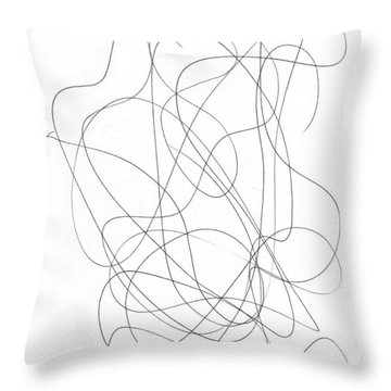 Scribble For Grin And Bear It Throw Pillow
