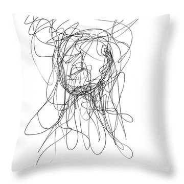 Scribble For Gusts, Dust, The Sun... Throw Pillow