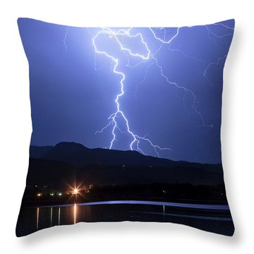 Throw Pillow featuring the photograph Scribble In The Night by James BO Insogna