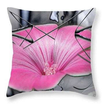 Scribble Petals..... Throw Pillow