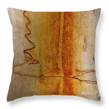Throw Pillow featuring the photograph Scribbly Gum Bark by Werner Padarin