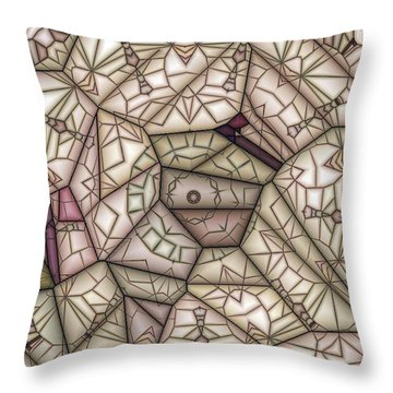 Scribed Throw Pillow by Ron Bissett