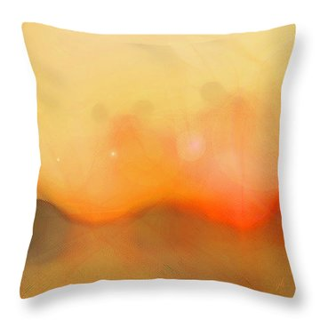 Throw Pillow featuring the digital art Scrim by Gina Harrison