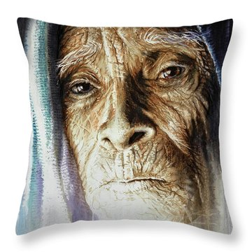 Throw Pillow featuring the painting Scripts Of Ancestral Light  by J- J- Espinoza
