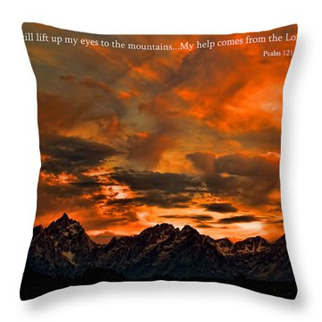 Scripture And Picture Psalm 121 1 2 Throw Pillow
