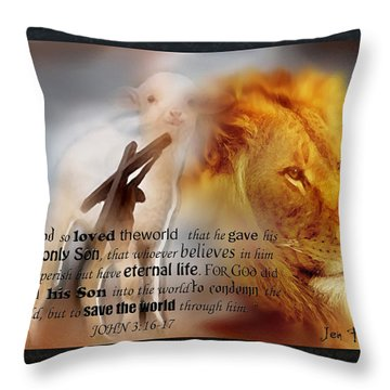 Scripture Art    Lamb Of God Throw Pillow