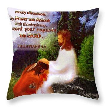 Scripture Art   Native Prayer Throw Pillow
