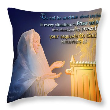 Scripture Art   Watchman's Prayer Throw Pillow