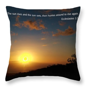 Scriture And Picture Ephesians 1 5 Throw Pillow by Ken Smith