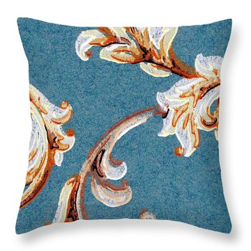 Scrolled Whimsy Throw Pillow