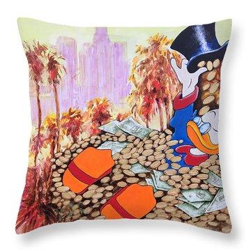 Scrooge In La Throw Pillow