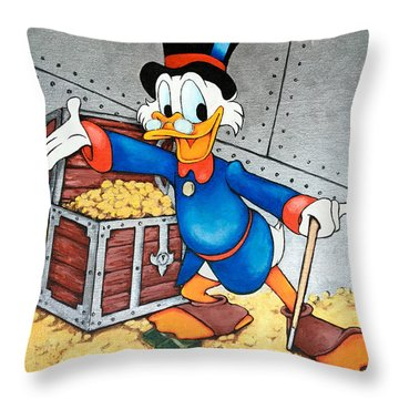Scrooge Mcduck  Throw Pillow