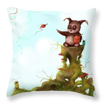 Scrumpy And The Phizz Poppers  Throw Pillow