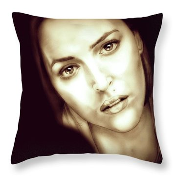 Scully Throw Pillow by Fred Larucci