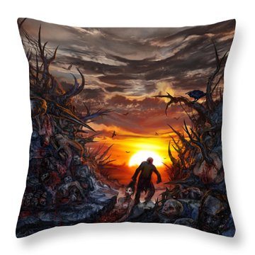 Sculpted In Sufferance Throw Pillow