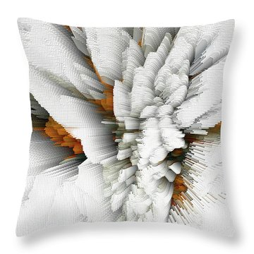 Throw Pillow featuring the digital art Sculptural Series Digital Painting 05.072311 by Kris Haas
