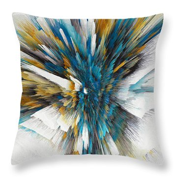 Throw Pillow featuring the painting Sculptural Series Digital Painting 08.072311ex490l by Kris Haas