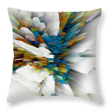 Throw Pillow featuring the digital art Sculptural Series Digital Painting 08.072311wscvssex490l by Kris Haas