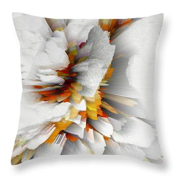 Throw Pillow featuring the digital art Sculptural Series Digital Painting 22.120210 by Kris Haas