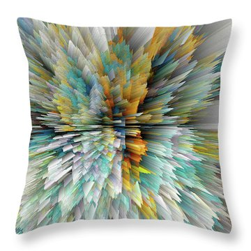 Throw Pillow featuring the digital art Sculptural Series Digital Painting 23.102011windextsc590l by Kris Haas