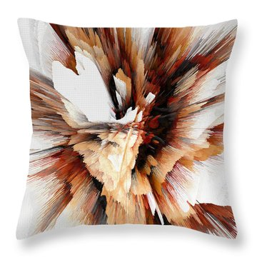 Throw Pillow featuring the digital art Sculptural Series Digital Painting 23.120210ext5100l by Kris Haas