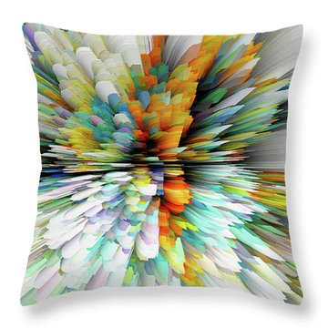 Throw Pillow featuring the digital art Sculptural Series Painting23.102011windblastsccvsext4100l by Kris Haas