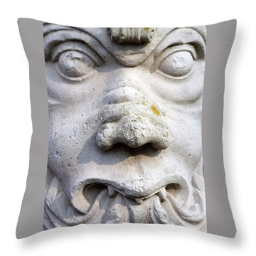 Sculpture At The Main Entrance Of The Corvey Monastery Throw Pillow