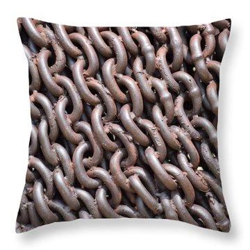 Sculpture Of Chain Throw Pillow