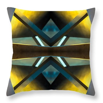 Sculpture On Southport N66v2 Throw Pillow by Raymond Kunst